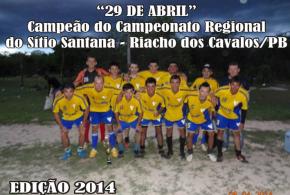 Equipe 29 de Abril de Mato Grosso é campeão regional no município de Riacho dos Cavalos