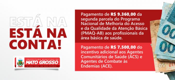 Prefeitura realiza pagamento da segunda parcela do PMAQ e adicional a agentes de saúde e endemias