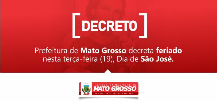 Prefeitura decreta feriado no Dia de São José