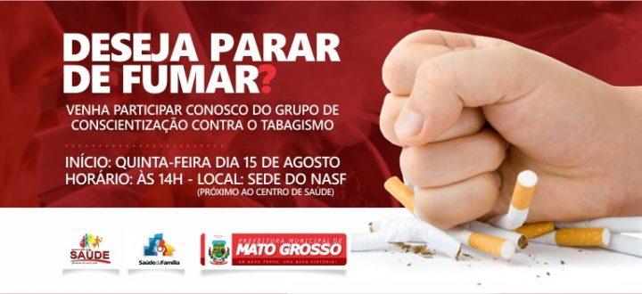 Secretaria de Saúde e NASF darão início a novo grupo de conscientização contra uso de cigarro